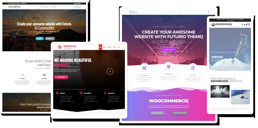 Free Multi Purpose Wordpress Theme Futurio